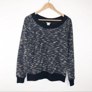 🌿 Club Monaco Black & White Ribbed Sweater